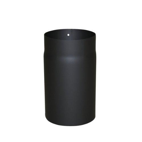 Senotherm 331800, hitzebeständig einbrennlackiertes Rauchrohr, das Kaminrohr ist geprüft nach Norm EN 1856-2, das Rohr hat eine konische Verjüngung, schnell und einfach mit anderen Rohren zu verbinden durch ein Stecksystem, die Maße des Abgasrohres betragen ca. Ø 15 x 25 cm ()