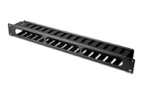 """DIGITUS Professional Kabelmanagement Käfig für 19\"""" Schränke, 1HE, abnehmbare Frontblende, RAL 9005 Schwarz"""