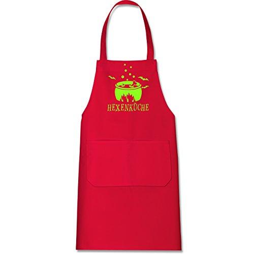 Shirtracer Küche - Hexenküche - 80 cm x 73 cm (H x B) - Rot - X967 - Kochschürze mit Tasche (Für Halloween-geburtstag Kuchen-ideen)