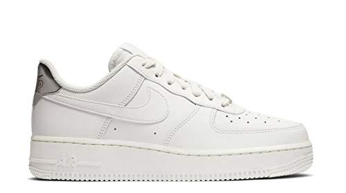 Nike Damen WMNS Air Force 1 '07 ESS Basketballschuhe, Grau Platinum Tint/Summit White 003, 40 1/2 EU -