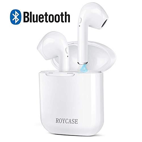 Wireless Bluetooth Headset V4.2 In-Ear-Kopfhörer kabellose Headsets Stereo-Mini-Kopfhörer wasserdicht Geräuschunterdrückung mit Ladekoffer und eingebautem Mikrofon - Wasserdicht Mini Stereo