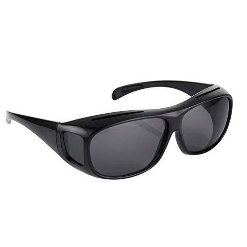 AchidistviQ Sonnenbrille Night Vision Driving HD Sicherheit Gläser Damen Herren UV-Sonnenbrille Eyewear Schwarz