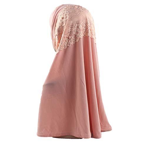 Muslim Hijab Frau Dasongff Hijab Kopftuch für Muslimische Frauen Islamische Kopfbedeckung Perlen Elegante Gesichtsschleier Lose Turban Hidschab Schal Ramadan Kopfbedeckung ()