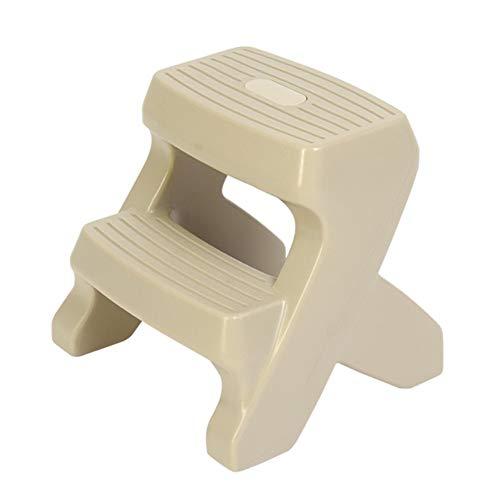 NYDZDM 2-Stufen-Leiter Baby/Kinder-Bad Anti-Rutsch-Hocker Hocker aus Kunststoff Geeignet for Küche, Bad, WC (Color : Gray, Size : 44×39×40cm)