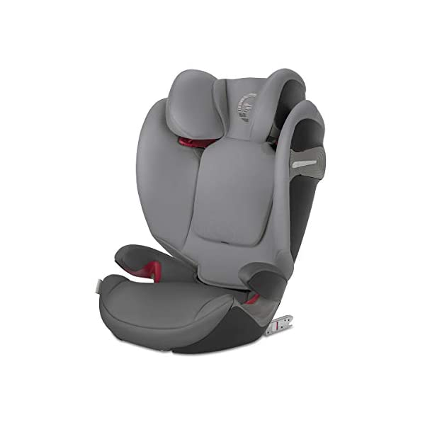 cybex Gold Pallas S-Fix Car Seat, Group 1/2/3, Manhattan Grey  Group 1/2/3 combination car seat. suitable from 9 - 36kg. designed to be used until a maximum height of 150cm, approximately 12 years. The optimized impact shield of the pallas s-fix reduces the risk of serious neck injuries without confining the child. shield suitable until 18kg. The integrated lisp. system offers increased safety in the event of a side-impact collision by reducing the forces by approximately 25%. 8