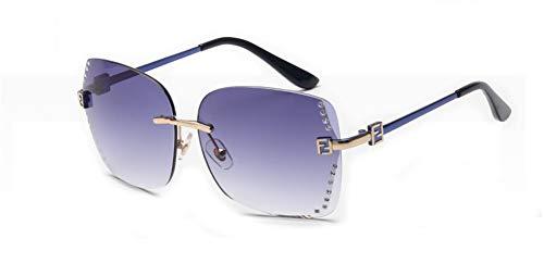 APJJ Trend Damen Sonnenbrille Persönlichkeit Sonnenbrille Sonnenbrille Rahmenlose Sonnenbrille,B