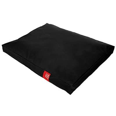 Poi Dog® Dog Bed - BLACK Poly Canvas Duvet Dog Beds in BLACK