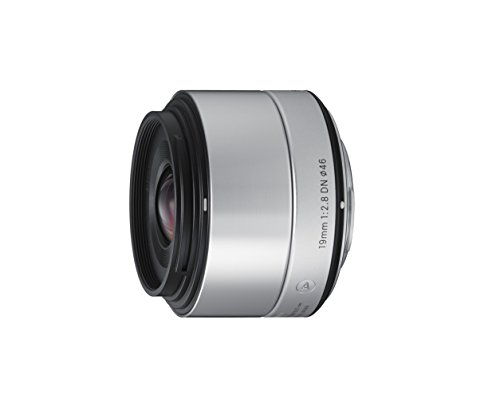 Sigma 19mm f2,8 DN Objektiv (Filtergewinde 46mm) für Sony E-Mount Objektivbajonett silber