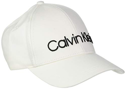 Calvin Klein Damen Baseball Logo Embroidery Cap W, Weiß (Off White 105), One Size