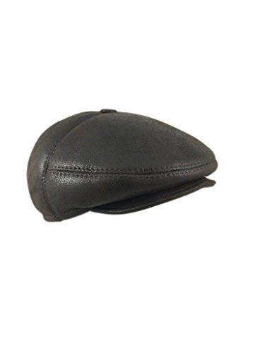 zavelio-mens-leather-shearling-sheepskin-5-panel-ivy-driving-cap-x-large-cashmere