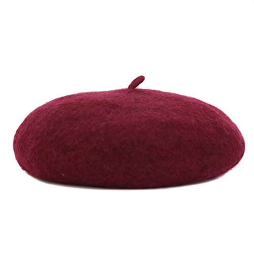 Dyong Barett Weiblichen Herbst Und Winter Koreanische Version Japanische Wilde Beiläufige Britische Retro Student Hut Niedlich Mode 帽 Hut Winter (Farbe : Rot) (Matrose Hut Rote)
