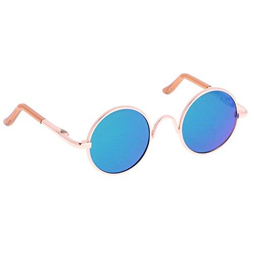 MagiDeal Puppen Brille Sonnenbrille mit Runden Rahmen für 1/6 Puppen - Grün