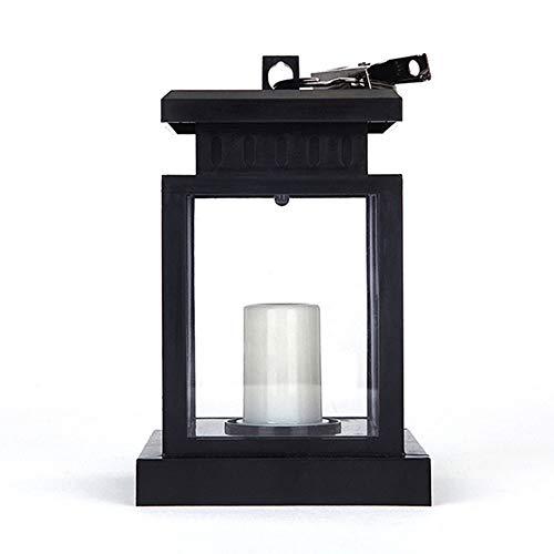 Mesigu Solarleuchten zum Aufhängen, wasserdichte LED-Kerzenlaterne für den Außenbereich, Dekoration für Garten, Terrasse, Deck, Straßenbeleuchtung Warmweiß -