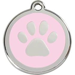 Red Dingo Médaille Pour Chiens Patte - rose, L
