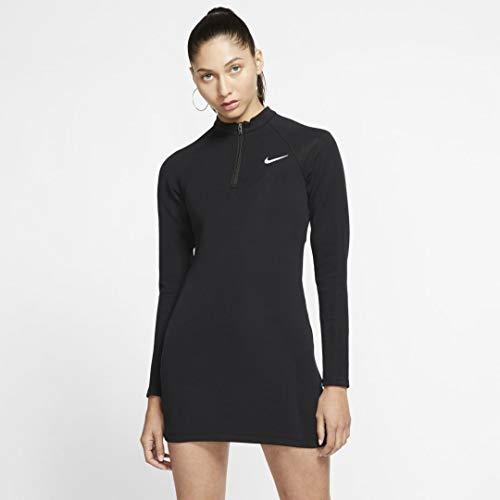 Nike Damen Sportswear Kleider, Schwarz/Weiß, M