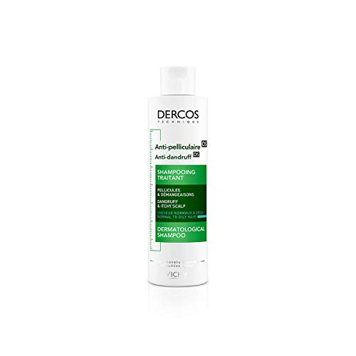 Vichy Dercos Anti-Schuppen Advanced Action Shampoo, normales bis fettiges Haar, 390 ml