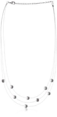 Boccia Damen-Collier Stahl Silikon 9 Scheiben Titan Sat/Pol 0852-01