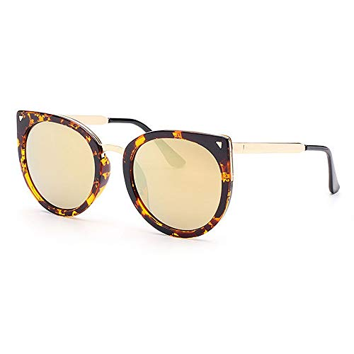 Lady Sonnenbrille Mode Dame Big Cat Eye Rahmen UV-Schutz Sonnenbrille Farbe Objektiv Fahren im Freien Frau glaess (Farbe : C5)
