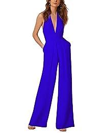 02d6699ba78f Lylafairy Tuta con Pantaloni Lungo Vestito Abito Cerimonia da Donna Elegante  Casual
