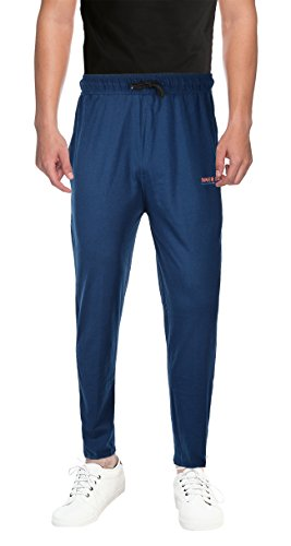 INNER SOUL Men's Cotton Track Pant (IS_002_Airforce--XL, Blue, X-Large)