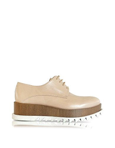 jil-sander-womens-js2613905002385-beige-leather-lace-up-shoes