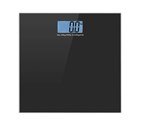 shree krishna Heavy Duty Electronic Thick Tempered Glass & LCD Display Electronic Digital Personal Bathroom Health Body Weight Weighing Scale, Weight Scale Digital (black)