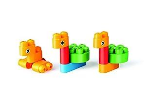 PolyM 760002Pájaros & Bosque Animales niños pequeños de Juguete, Flexible y rundkantige Ladrillos