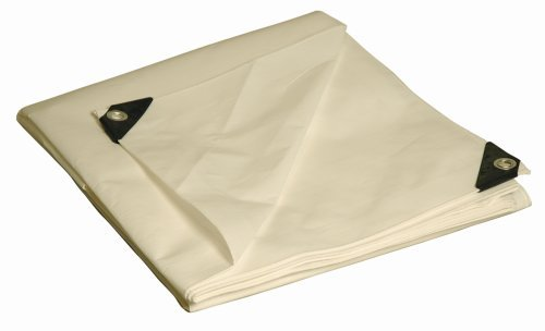 10' x 20' Dry Top Heavy Duty White Full Size 10-mil Poly Tarp item #310207 by DRY TOP