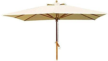 Sonnenschirm aus Holz TOP Exclusive 300x 300cm.–Mast Ø 50cm.