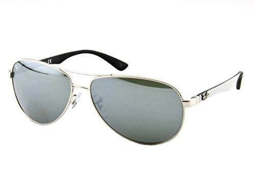 Ray Ban Unisex Sonnenbrille RB8313 Mehrfarbig (Gestell Schwarz, Gläser: Silber verspiegelt 003/40)), Large (Herstellergröße: 58)
