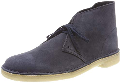 Clarks originals boot, stivali desert boots uomo, blu (ink suede-), 41.5 eu
