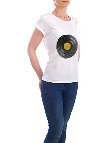 "Design T-Shirt Frauen Earth Positive ""Sound System"" - stylisches Shirt Abstrakt von Florent Bodart Weiß"