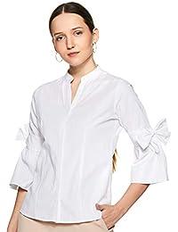 KRAVE Women's Plain Regular Fit Shirt