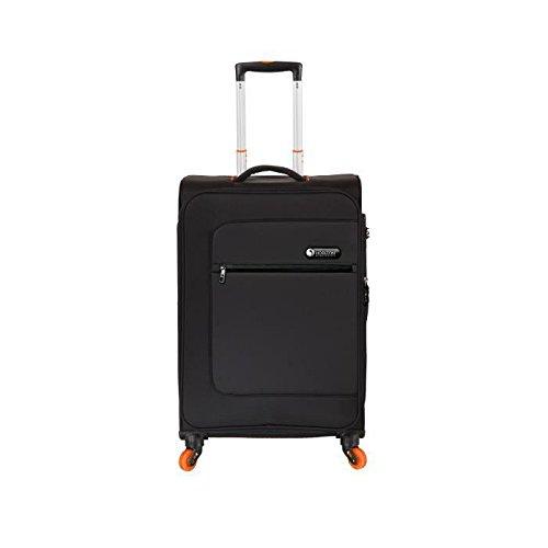Preisvergleich Produktbild Horizon Koffer Trolley weich 4Rollen 61cm Pulse schwarz und orange