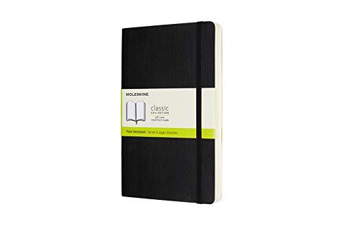 Moleskine 8058647628066 - Taccuino, collezione classica Large/A5, fogli bianchi, numero di pagine avanzato, copertina rigida, nero