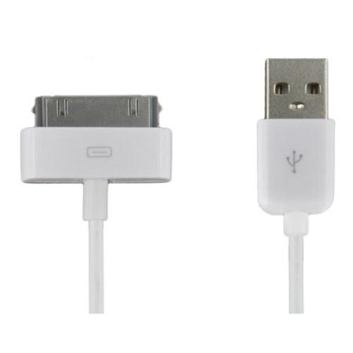 4WORLD 07933-OEM Apple USB Daten und Lade Kabel (1m) für Apple iPhone 4/4S/3G/3GS, iPad 1/2/3, iPod Video/mini/Nano/Touch weiß