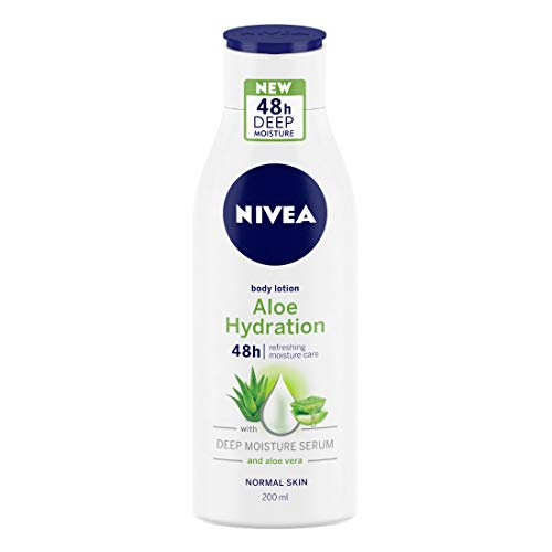 NIVEA Aloe Hydration Body Lotion, 200ml, with deep moisture serum and aloe vera for normal skin