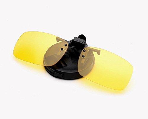 HETAO Persönlichkeit Neue Metall Polarisierte Clip Herren Sonnenbrille , yellow , big Dekorative Gläser
