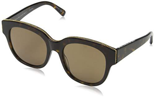 Stella McCartney Unisex-Erwachsene SC0007S 003 Sonnenbrille, Braun (003-Avana/Brown), 54