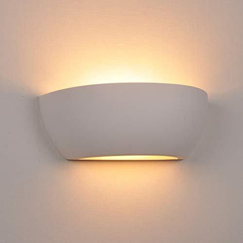 E14 Design plâtre mur lumières blanc haut et bas lumières ...