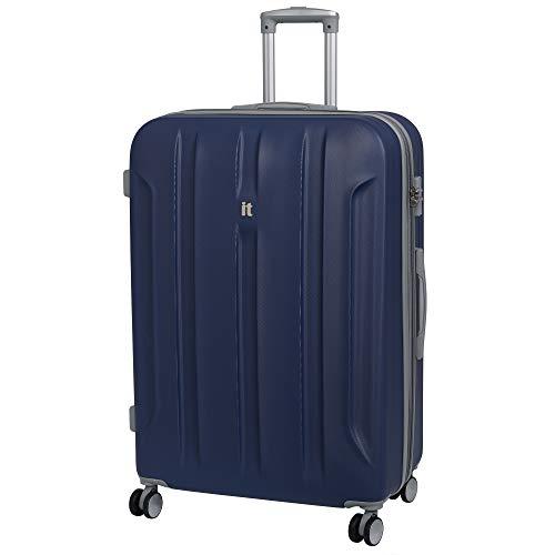 it luggage Proteus 8 Wheel Hard Shell Single Expander Suitcase with TSA Lock Koffer, 80 cm, 161 liters, Blau (Twilight Blue)