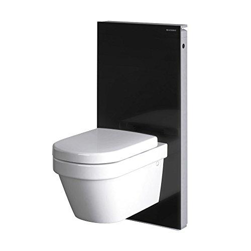 Geberit Mécanisme/Cist. Vista – citerne Monolith WC suspendu verre bas noir aluminium