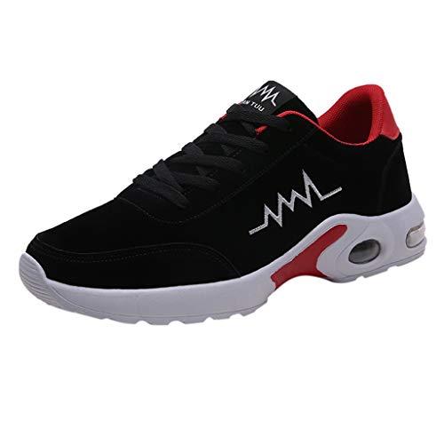 HDUFGJ Herren Sneaker Atmungsaktiv Laufschuhe Luftkissen Stoßdämpfung Freizeitschuhe Leichtgewicht Outdoor-Schuhe Reiseschuhe Atmungsaktiv rutschfest Flache Schuhe Fitnessschuhe 40(rot) - Response Trail-running-schuh