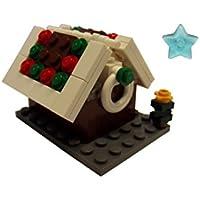 Noël LEGO - maison de pain d'épice avec un arbre de Noël
