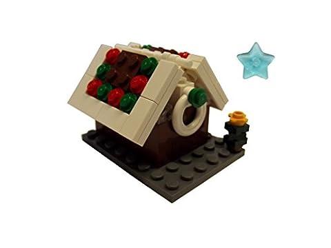 Weihnachten LEGO® Lebkuchenhaus Gingerbread mit Weihnachtsbaum