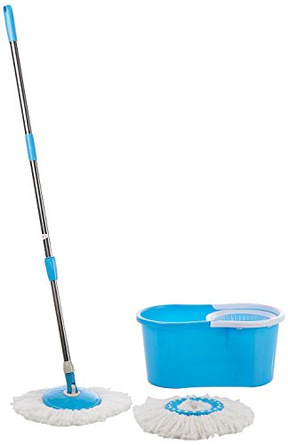 A-TO-Z-SALES-Easy-Magic-Floor-Mop-360-Bucket-2-Heads-Microfiber-Spin-Spinning-Rotating-Head-Color-May-Vary