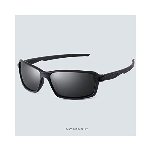 Sport-Sonnenbrillen, Vintage Sonnenbrillen, Polarisiert Sunglasses Men Driving Glasses Fashion Sun Glasses For Woman Male Sport Glassegoggles Eyewear Brand Designer Oculos S18318 Black