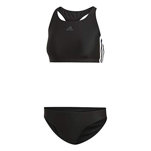 adidas Damen FIT 2PC 3S Badeanzug , Schwarz(black) , 34