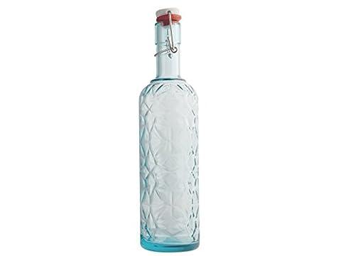 Bormioli Luigi wertvolle Flasche mit Spitze, LT 1, Glas, Blau, 8x 8x 33cm