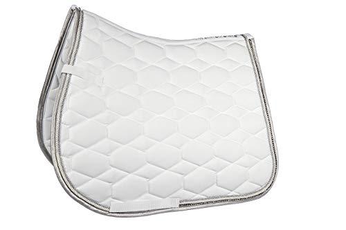 HKM Sports Equipment HKM Schabracke -Crystal Fashion-, Weiß, Pony Dressur